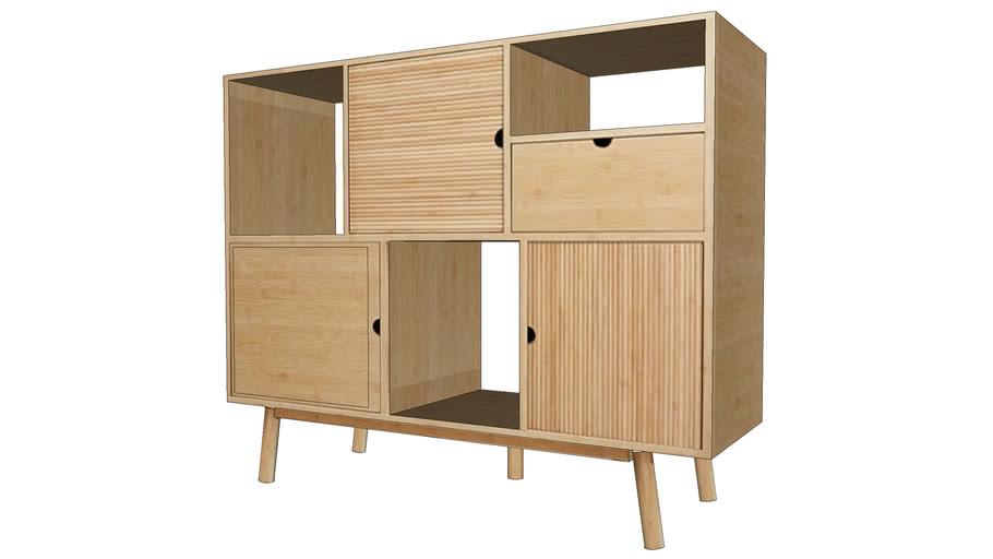 MAWAI Buffet 3 portes 1 tiroir REF 166632 PRIX 330.00€