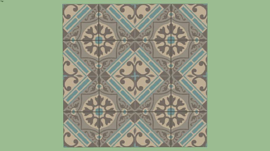 La Rochelle 15 15 Carreaux De Ciment Ciment Tiles Carrelages Du Marais 3d Warehouse