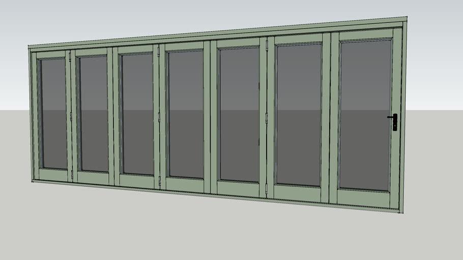 Valdi - Folding Sliding Door - 7 Door [Reed Green]