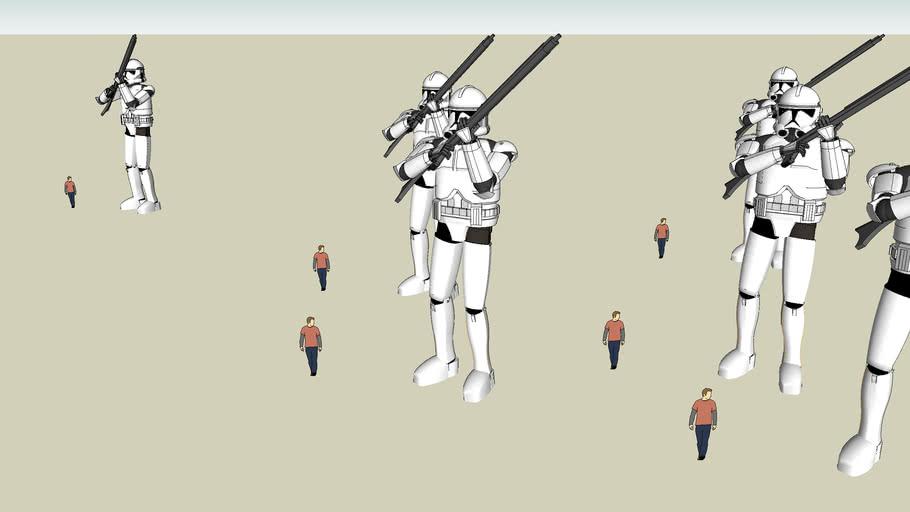 Star wars Clone Trouper Army