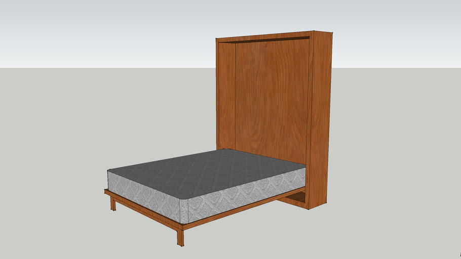 Queen size Murphy bed with fold-out table