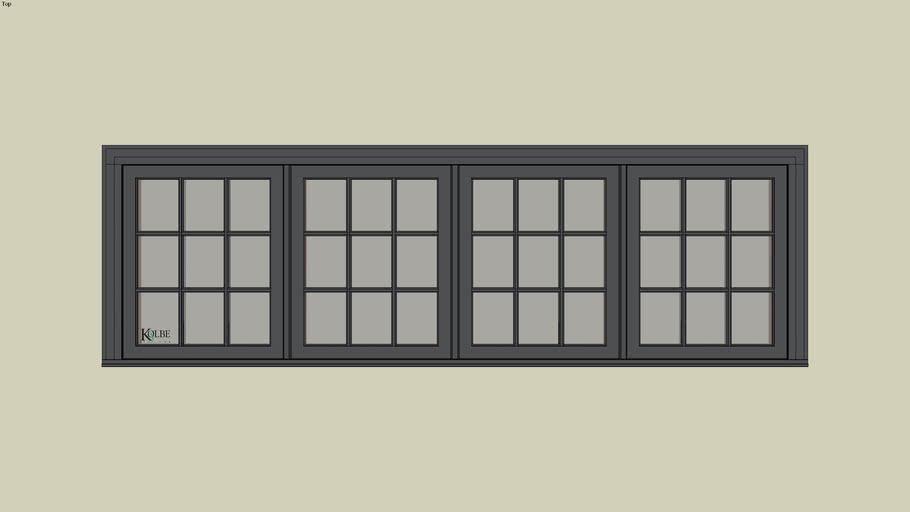 """Kolbe Ultra Casement KUX426 (F.S. 10'-0"""" x 2'-6"""" R.O. 10'-0 1/2"""" x 2'-6 1/2"""")"""