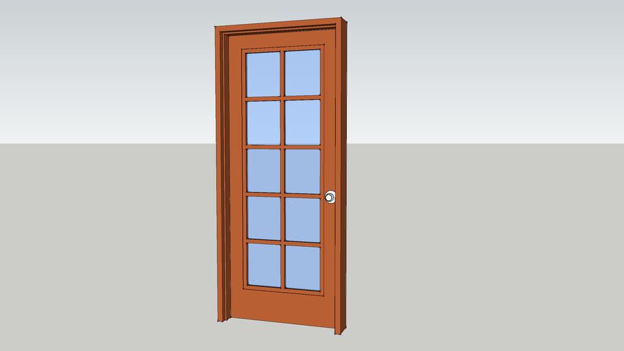 10-Lite French Door 915 mm x 2100 mm.