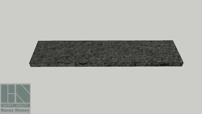 "Banas® Stones Premium Natural Wall Coping - 14"" x 60"" - Jet Black RF4"