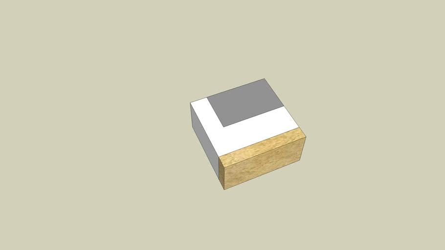 Блок угловой наружный доборный (400x190x400)