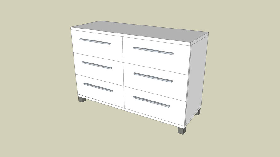 Commode Fly Gamme Solo Blanc 3d Warehouse
