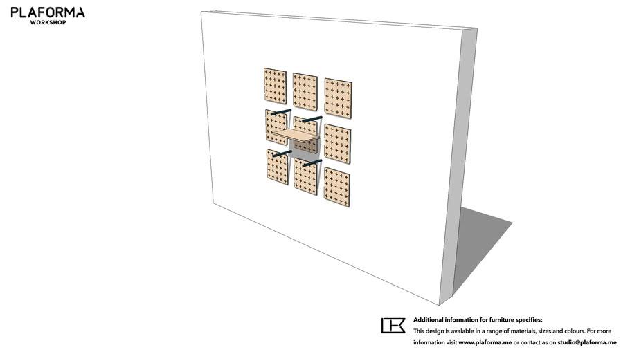 PLAFORMA MODULAR FURNITURE WALL SHELF SYSTEM ELEMENTS