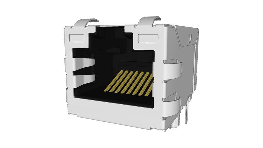 LAN RJ45 90° Ethernet Surface Mount Receptacle