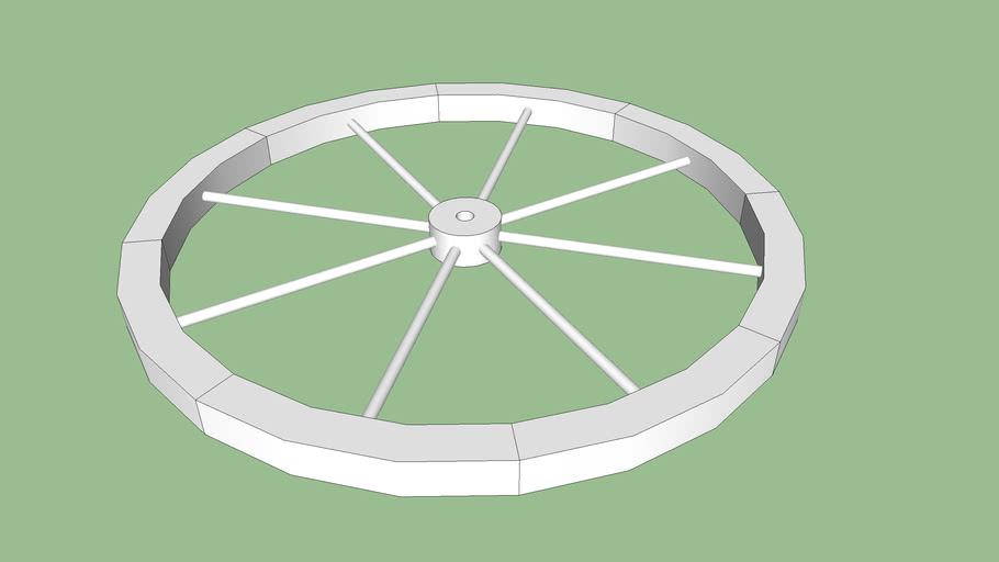 """Base Wagon Wheel 36"""""""