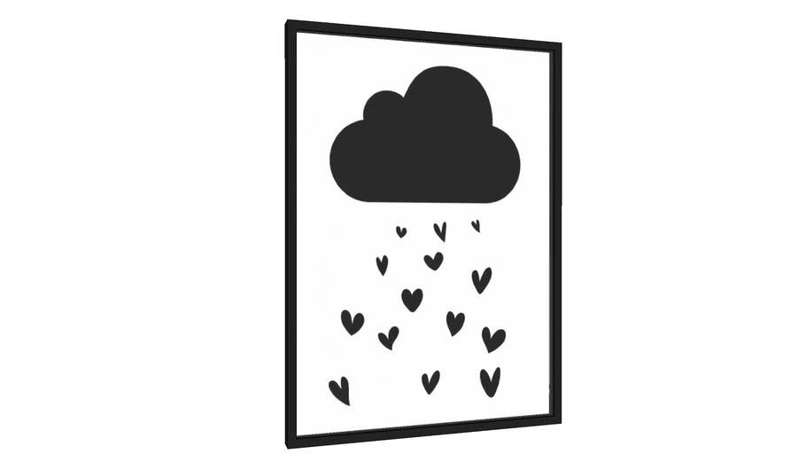 Quadro Chuva amor - Galeria9, por Vanessa Volk