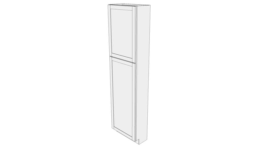 Bayside Tall Cabinet 12UCS2493 - 12 inch Deep, Shelves, One Door