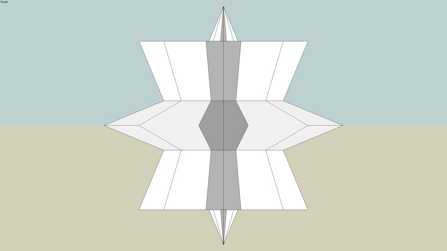 3D 8 pointed star