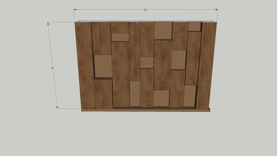 wooden irregular wall