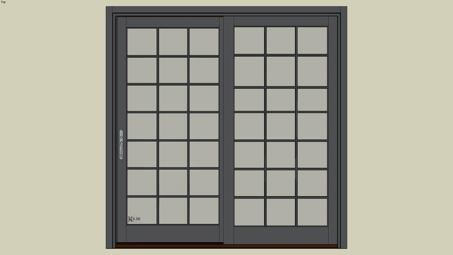 "Kolbe Ultra Garden-Aire Sliding Patio Door GAU8080 F.S. 8'-0""x 8'-2 7/16""R.O. 8'-0 1/2""x 8'-2 15/16"""
