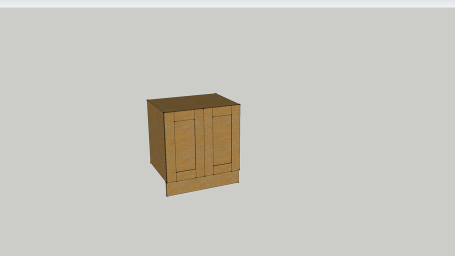 WIDE FRAME OAK KITCHEN RANGE - DOUBLE CUPBOARD