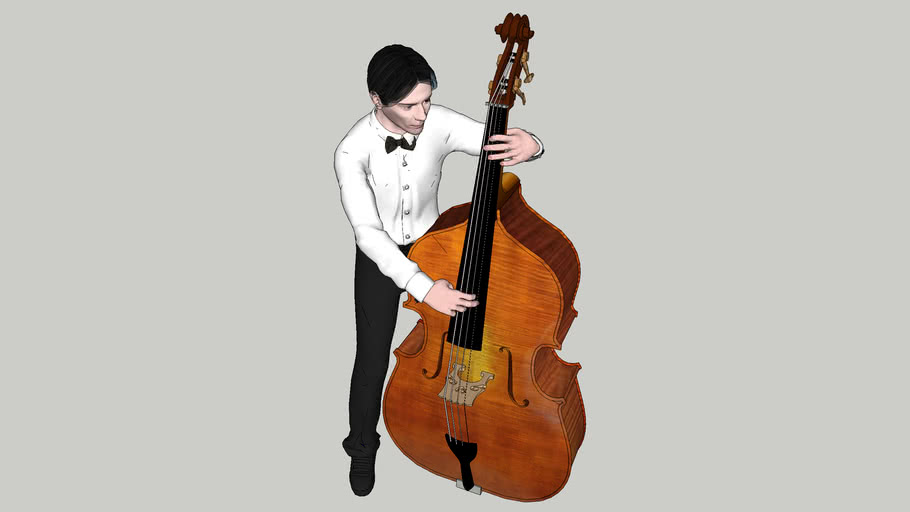 ContraBass Player Jazz with Suit
