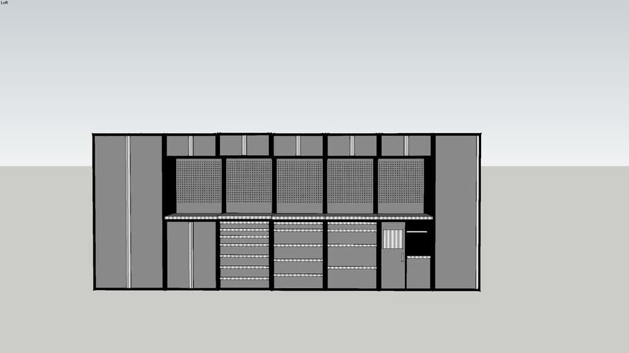 Garage Cabinets / Garageinredning (1:1 Measurements)