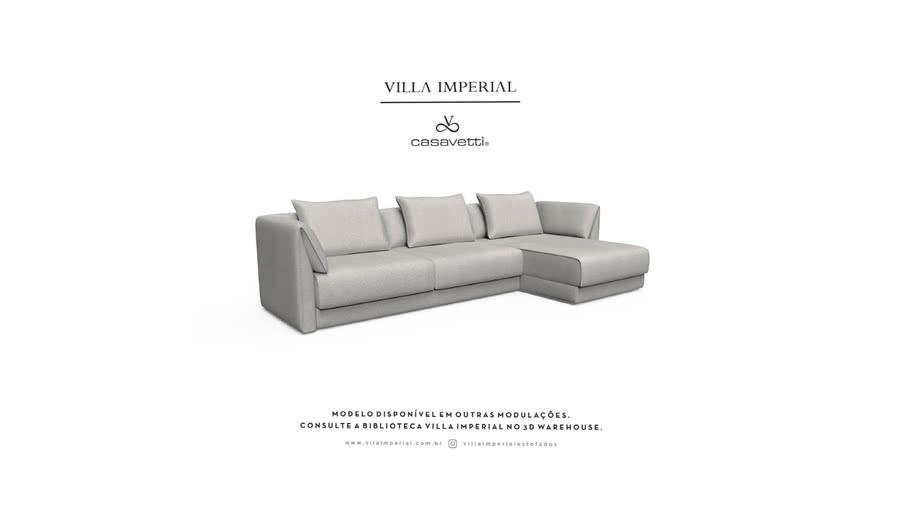 Sofá Pianezze - 2 Assentos mais Chaise   Villa Imperial - Casa Vetti