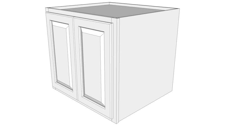 "Briarwood Wall Cabinet 24W2724B - 24"" Deep, Butt Doors"