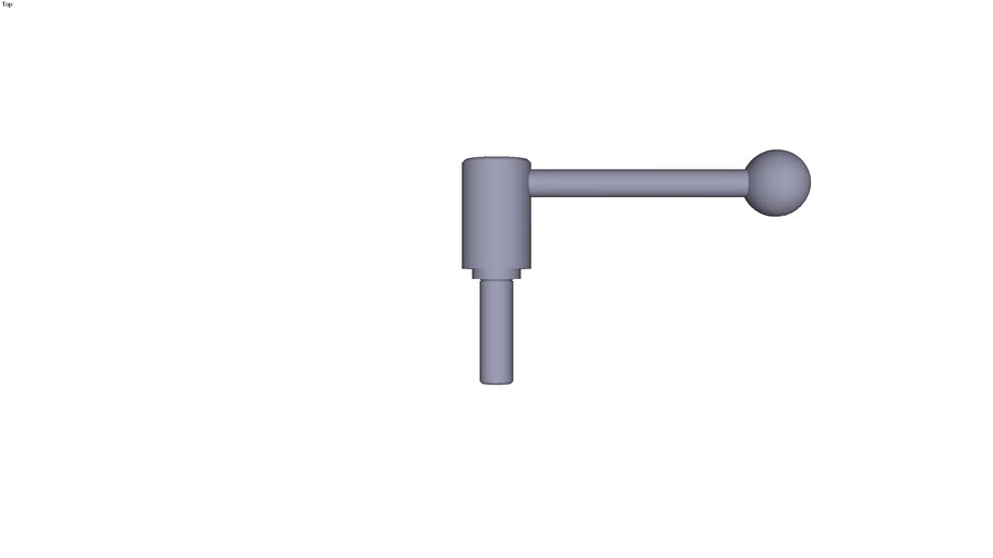 Indexing tension lever external thread...0° - size 3 M16  threaded rod length 50 mm