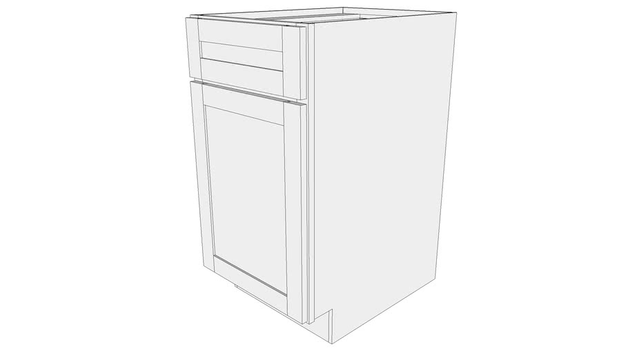Bayside Base Cabinet BS18- One Door, One Drawer Front