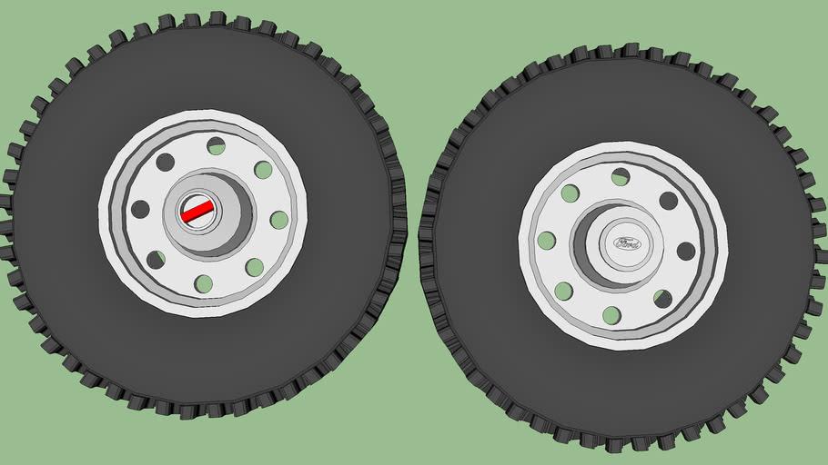"1994.5-1997 ""OBS"" Powerstroke Alcoa Factory Ford Wheels"