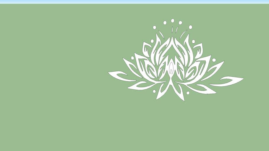 graphic wall lotus