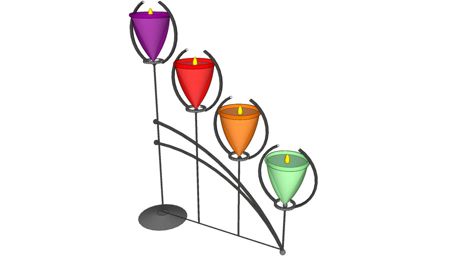 glass candle stand