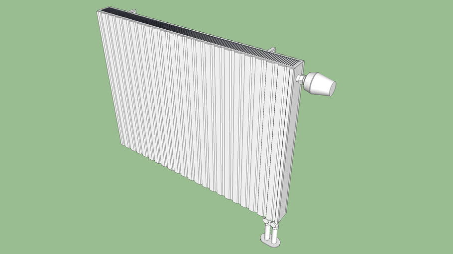 Heating radiator 80x6,5cmx60cm
