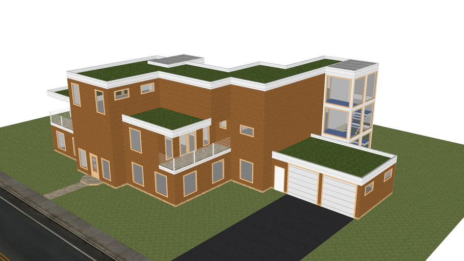 Green Roof Home 3d Warehouse