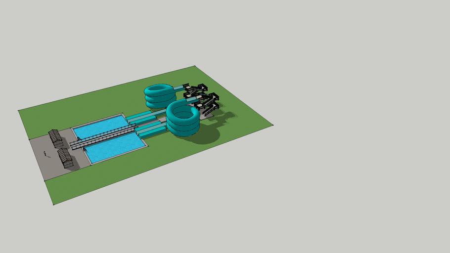Double Helix Water Slide