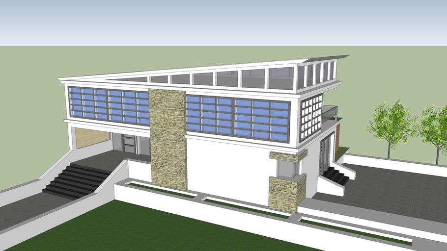 Modern Sloped Roof House 3d Warehouse
