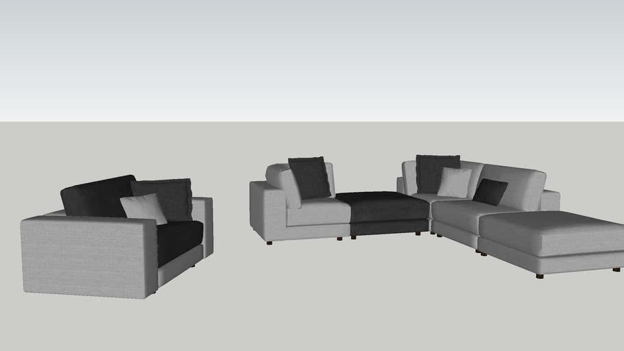 Sofa cobination bicolore High end 3C GHD