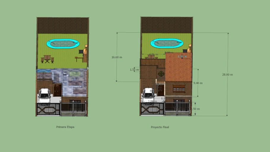 Proyecto de Casa en Terreno de 8.66 * XX
