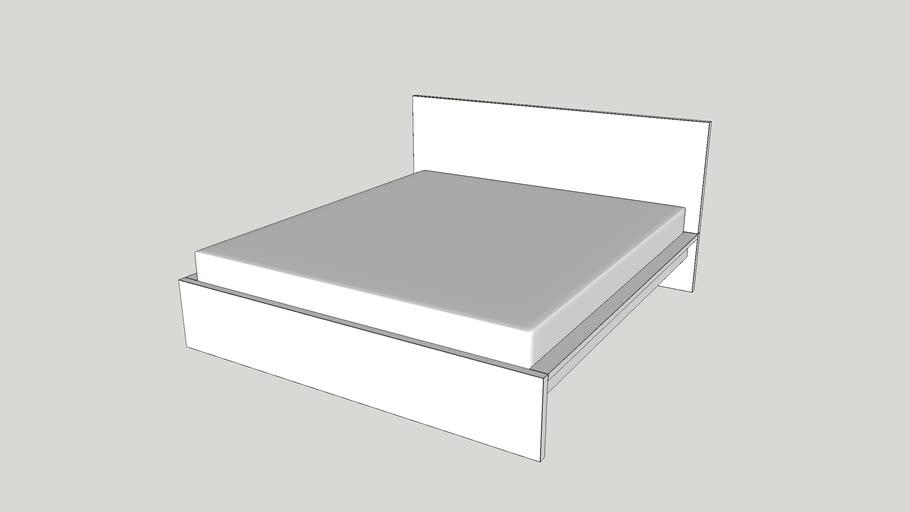 Ikea Malm Bed Frame High 180x200 Cm White 3d Warehouse