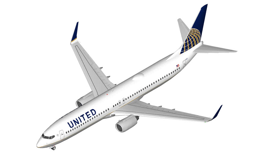 United Airlines Boeing 737 900 3d Warehouse