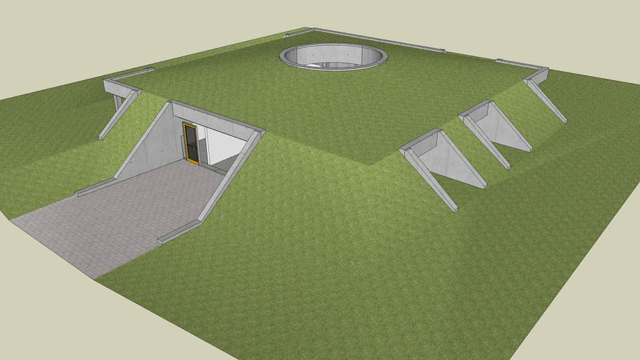 Earth sheltered home 7