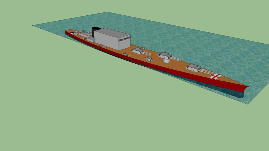 WWII super battlecruiser