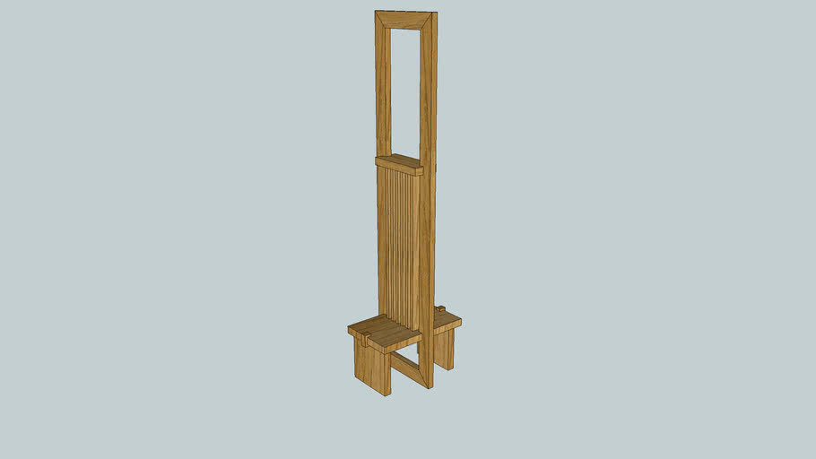 Wright-style Print Stand from Popular Woodworking
