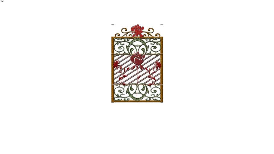 Single Rose Gate panel