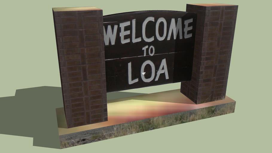 Welcome Sign Loa, Utah
