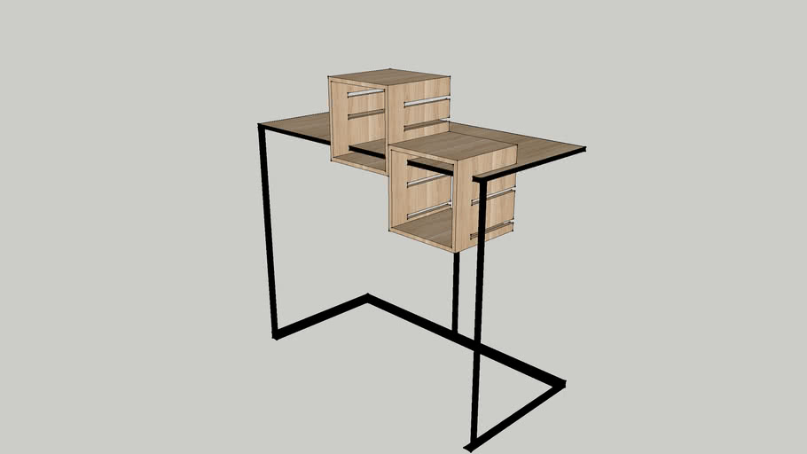 Console Table with Detachable Display