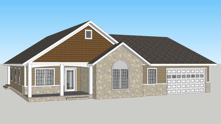 New American ranch house (suburban)