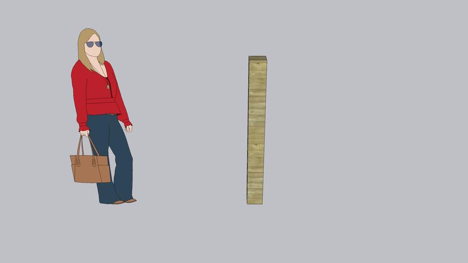 poteau bois 15x15