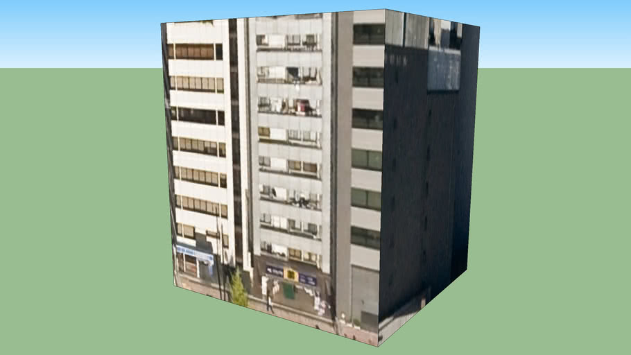 〒600-8453的建筑模型