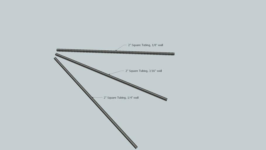 """Steel Tubing, 2"""" variety"""