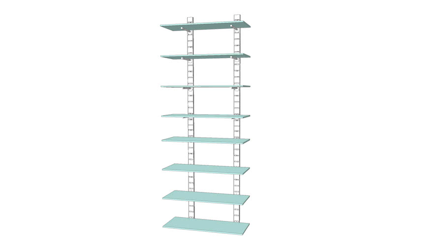 "46"" SlatStrip Unit G/10"" Brackets"