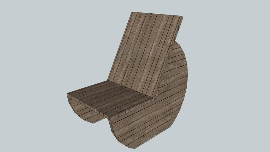Holzkabeltrommel Sessel