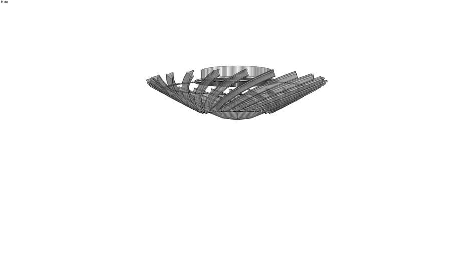 Plafón de Vidro Óptico - Chandelie - CH3003