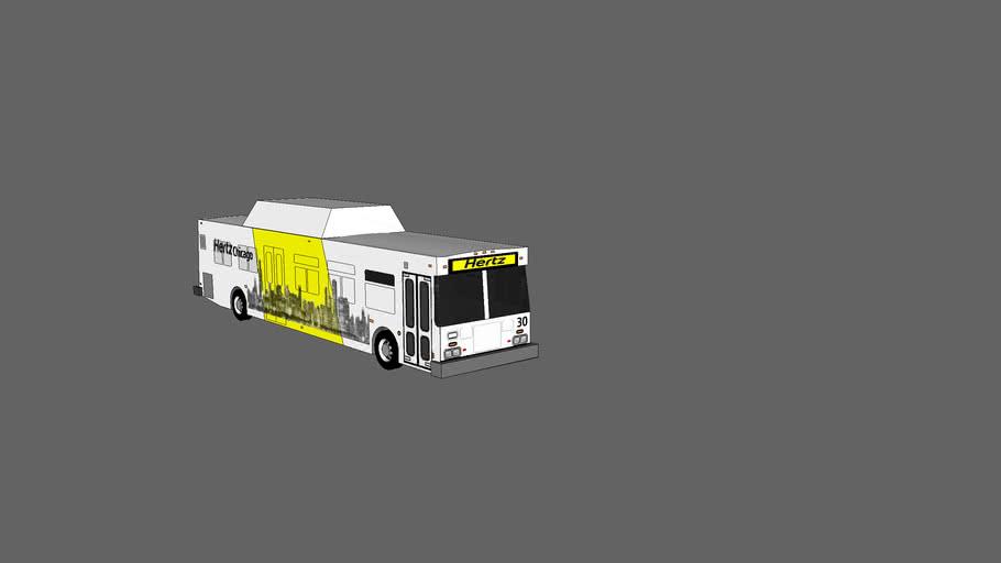 2005 new flyer de40lf hertz rental car shuttle bus
